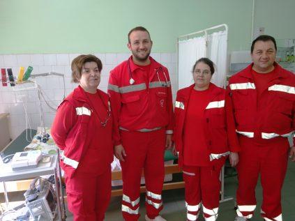 Das diensthabende Notarztteam in Radovis